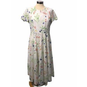 Laura Ashley Vintage Floral Fit & Flare Dress